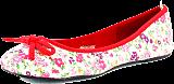 Donna Girl - Canvas Ballerina Blommor Red