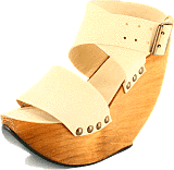 Minimarket - Space Shoe Wood Wedge Sandal White
