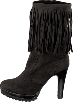 Lady CG - Kansas Long Fringe Boot Black