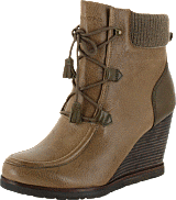Marc O'Polo - Wedge Bootie Oily Calf Printed Taupe