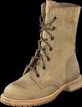 Swedish Hasbeens - Military Boot Military Green Nubuck