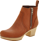 Swedish Hasbeens - Zip it Emy Cognac Nubuck