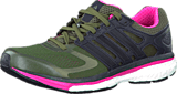 adidas Sport Performance - Supernova Glide 6 W Earth Green/Black/Solar Pink