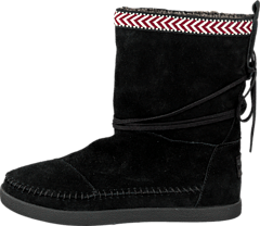 Toms - Suede Trim Womens Nepal Boot Black