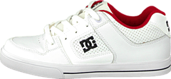 DC Shoes - Kids Pure Shoe Wht/Wht/Athl Red