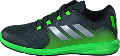 adidas Sport Performance - Messi K Dark Grey/Silver Met./Green