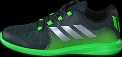 adidas Sport Performance - Messi K Dark Grey/Silver Met./Green