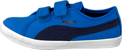 Puma - Elsu F Canvas V Kids Strong Blue-Peacoat