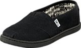 Toms - Seasonal Classic Jr Black Canvas