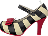 Lola Ramona - Angie 413001 Black/cream/red