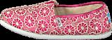 Toms - Seasonal classic youth Pink crochet glitter