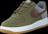 Nike - Air Force 1 Mdm Olv/Trck Brwn-Cl Gry-White