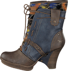 Mustang - 1107507 Women's Bootie Brown/Blue