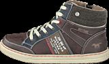 Mustang - 5033504 Youth High Top Sneaker Dark Brown
