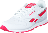 Reebok Classic - Cl Leather Reflect White/Fearless Pink/Silver Met
