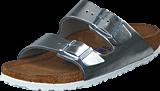 Birkenstock - Arizona Smooth Leather Metallic Silver