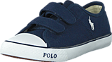 Ralph Lauren Junior - Daymond Ez Kids Navy Canvas -White