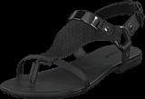 Bianco - Graphic Suede Sandal Black