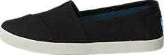 Toms - Avlon Slip-On Black Coated Canvas