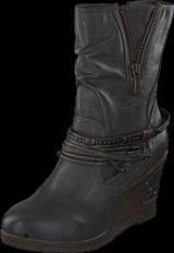 Mustang - 1083508 Women's Wedge Boot Dark Grey