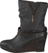 Mustang - 1083508 Women's Wedge Boot Dark Grey