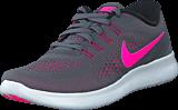 Nike - Wmns Nike Free RN Dark Grey/Pnk Blast-Blk