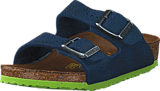 Birkenstock - Arizona Kids Nebula Blue/Lime