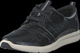 Toms - Black Patent Sneaker Linen