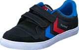 Hummel - Stadil Jr Leather Low Black/Blue/Red/Gum