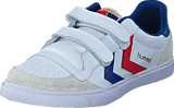 Hummel - Stadil Jr Leather Low White/Blue/Red/Gum