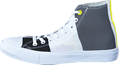 Converse - Chuck Taylor II Hi Eng. Woven White/Black/Fresh Yellow