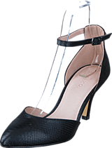 Bianco - Ankle Strap Pump Black