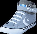Converse - Pro Blaze Strap Ltr Suede Hi Wolf Grey/Storm Wind/White