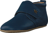 Bisgaard - Home Shoe Velcro Star Navy
