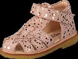 Angulus - Fisherman Sandal W. Velcro Rose W. Copper Dot