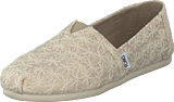 Toms - Alpargata Natural Daisy Metallic