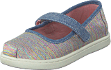 Toms - Mary Jane Tiny Pink Multi Twill Glimmer