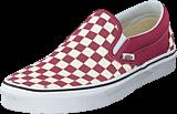 Vans - Ua Classic Slip-on (checkerboard) Dry Rose/white